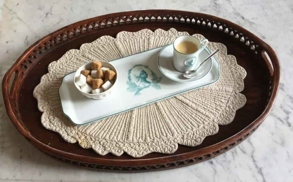 Customized Espresso Cup and Tray La Créole Reviving the 18th Century Aristocratic Custom of High-end Custom Made Dinnerware - EAT LOVE SAVOR International luxury lifestyle magazine and bookazines