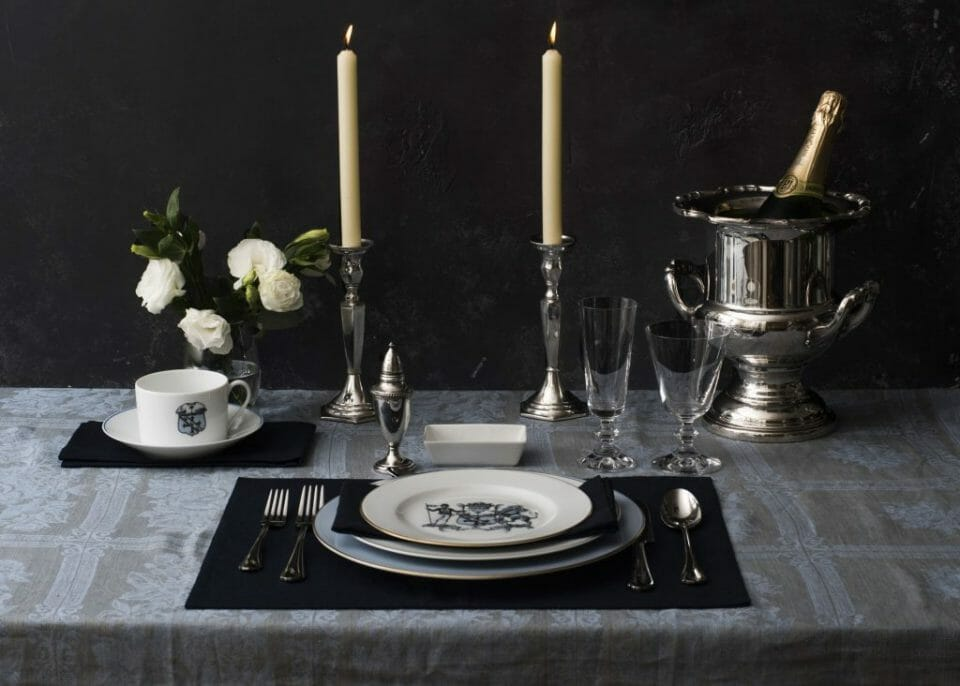 Customized Place Setting Nelsons Pointe Reviving the 18th Century Aristocratic Custom of High-end Custom Made Dinnerware - EAT LOVE SAVOR International luxury lifestyle magazine and bookazines