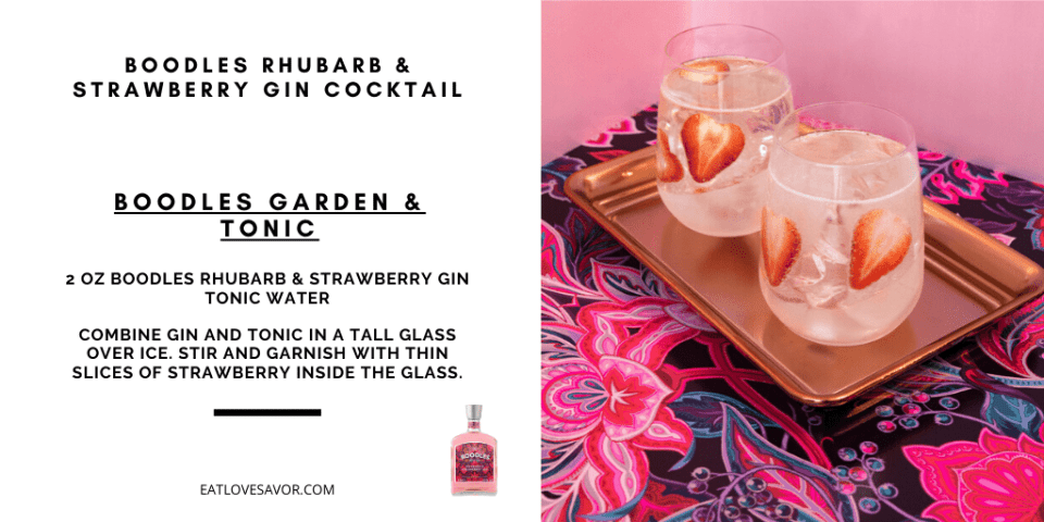 Boodles Pink Gin 20201 Discover Boodles Rhubarb and Strawberry Gin and Cocktail Recipes - EAT LOVE SAVOR International Luxury Lifestyle Magazine