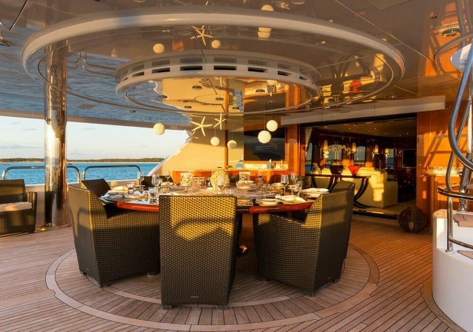 Vast deck areas to relax dine or entertain Lush escapes to the Bahamas in style with luxury yacht Remember When - EAT LOVE SAVOR International luxury lifestyle magazine, bookazines & luxury community