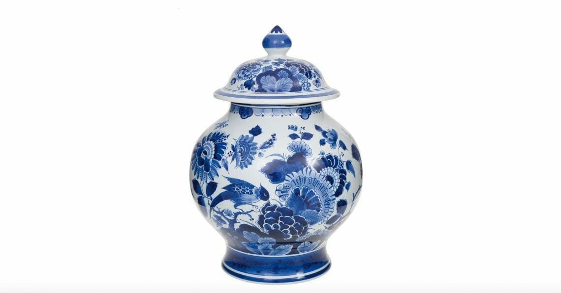 blue vase with lid royal delft Timeless Luxury - Blue and White Porcelain: Discover Royal Delft - EAT LOVE SAVOR International Luxury Lifestyle Magazine