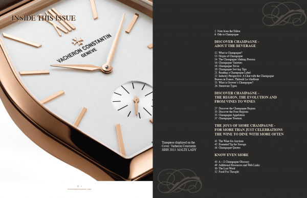 luxury of time table of contents Digital Luxury of Time Edition - EAT LOVE SAVOR International Luxury Lifestyle Magazine