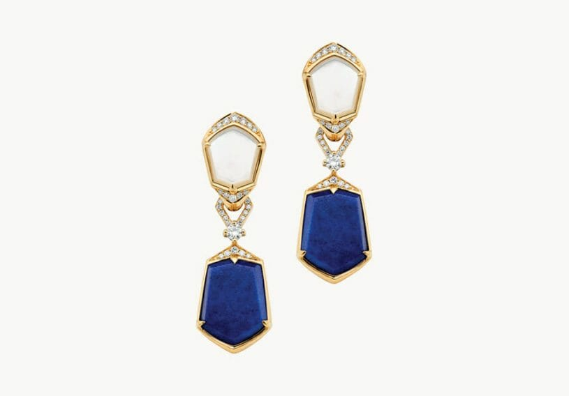 paspaley a19ae11y lapis earring yellow gold 3 default Timeless Luxury - PEARLS - Discover Paspaley Australia's Oldest Pearling Family - EAT LOVE SAVOR International Luxury Lifestyle Magazine