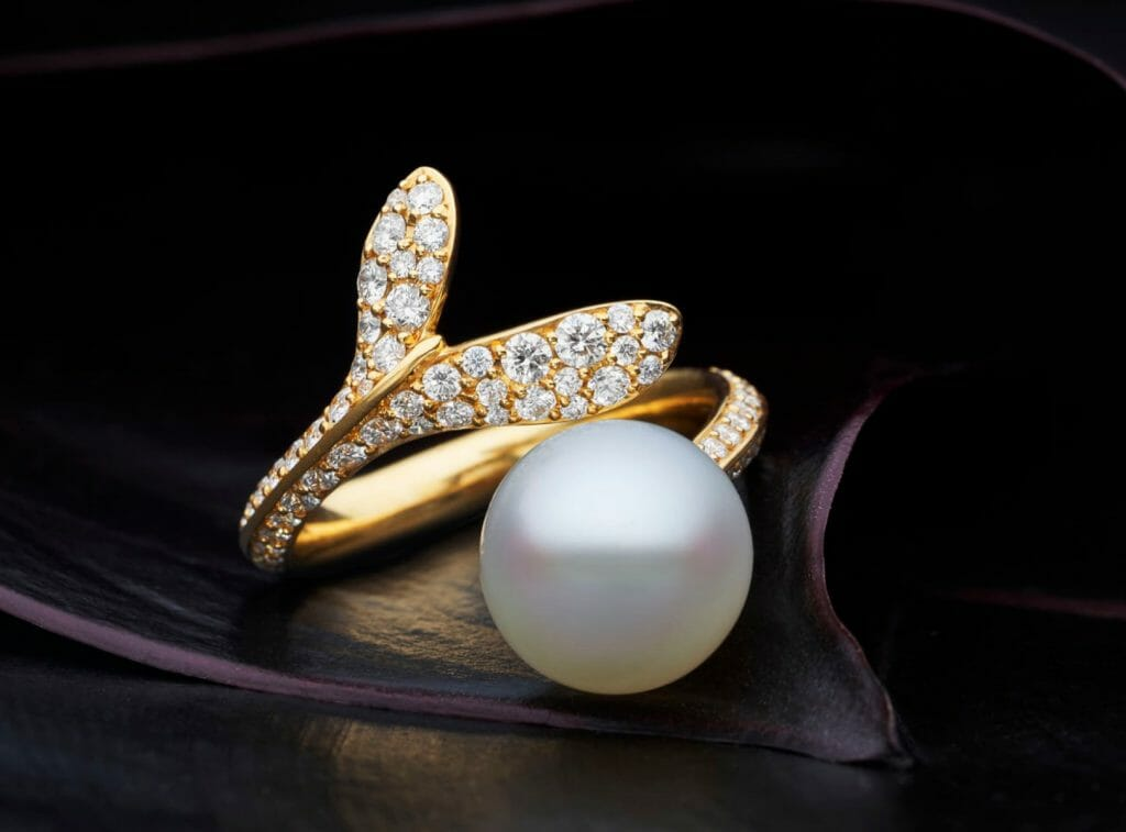 paspaley dy18r01ypo09 wrap ring yellow gold large 1 Timeless Luxury - PEARLS - Discover Paspaley Australia's Oldest Pearling Family - EAT LOVE SAVOR International luxury lifestyle magazine and bookazines