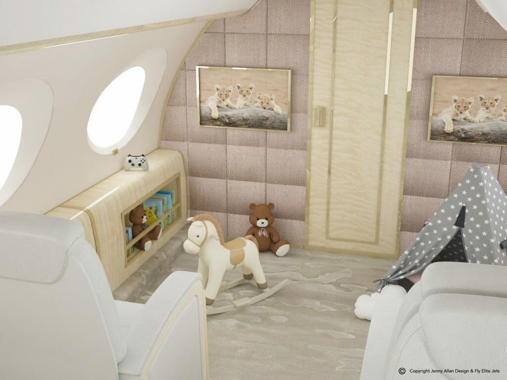 Private Jet Design - The World's First, Flying Nursery - eat love savor luxury lifestyle magazine