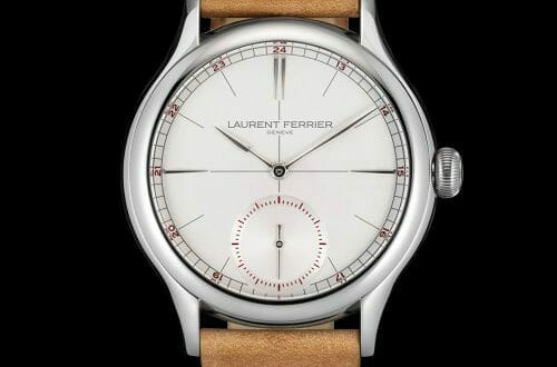 LF Classic Origin Opaline Soldier Black background LR Discover Laurent Ferrier Geneve Classic Origin Opaline for Him - EAT LOVE SAVOR International luxury lifestyle magazine, bookazines & luxury community