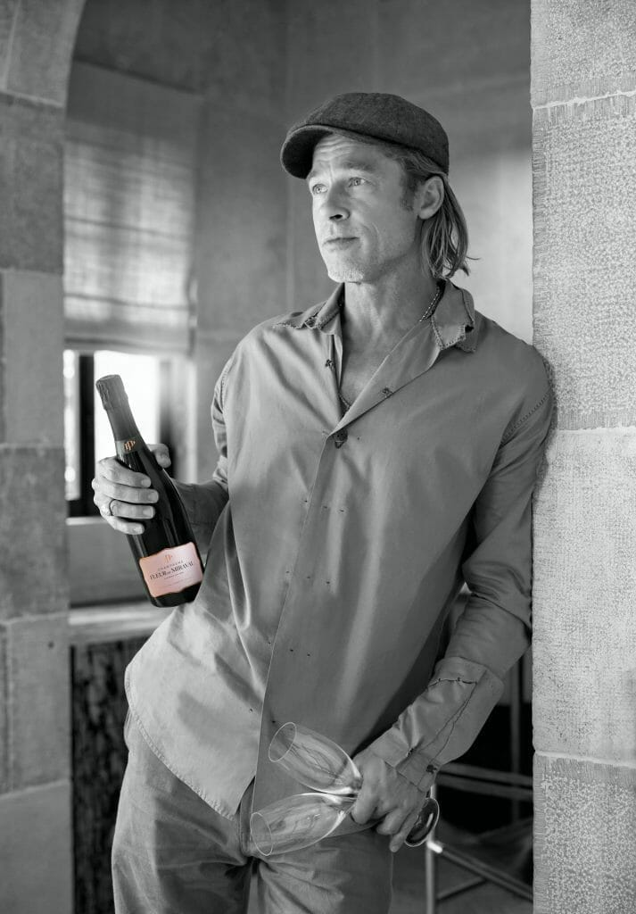 Fleur de Miraval Photo Officielle Brad Pitt MD PHOTO CREDIT Champagne Fleur de Miraval Discover FLEUR DE MIRAVAL Rosé Champagne Ascending to the Peak of Perfection - EAT LOVE SAVOR International luxury lifestyle magazine and bookazines