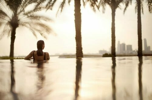 bahrain hotel infinity pool 50481431 Infinity pool 2 Luxury Learning Escapes with a Difference - EAT LOVE SAVOR International luxury lifestyle magazine, bookazines & luxury community
