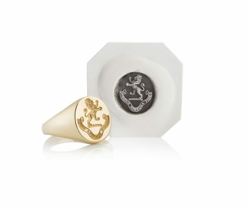 crest and ring Modern Resurgence of the Traditional Signet Ring - EAT LOVE SAVOR International luxury lifestyle magazine, bookazines & luxury community