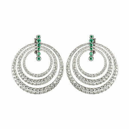 luminous white circle earrings jovadiearrings 14 Beautiful Things: JOVADI: Expressions of Love and Beauty in Fine Jewelry - EAT LOVE SAVOR International Luxury Lifestyle Magazine