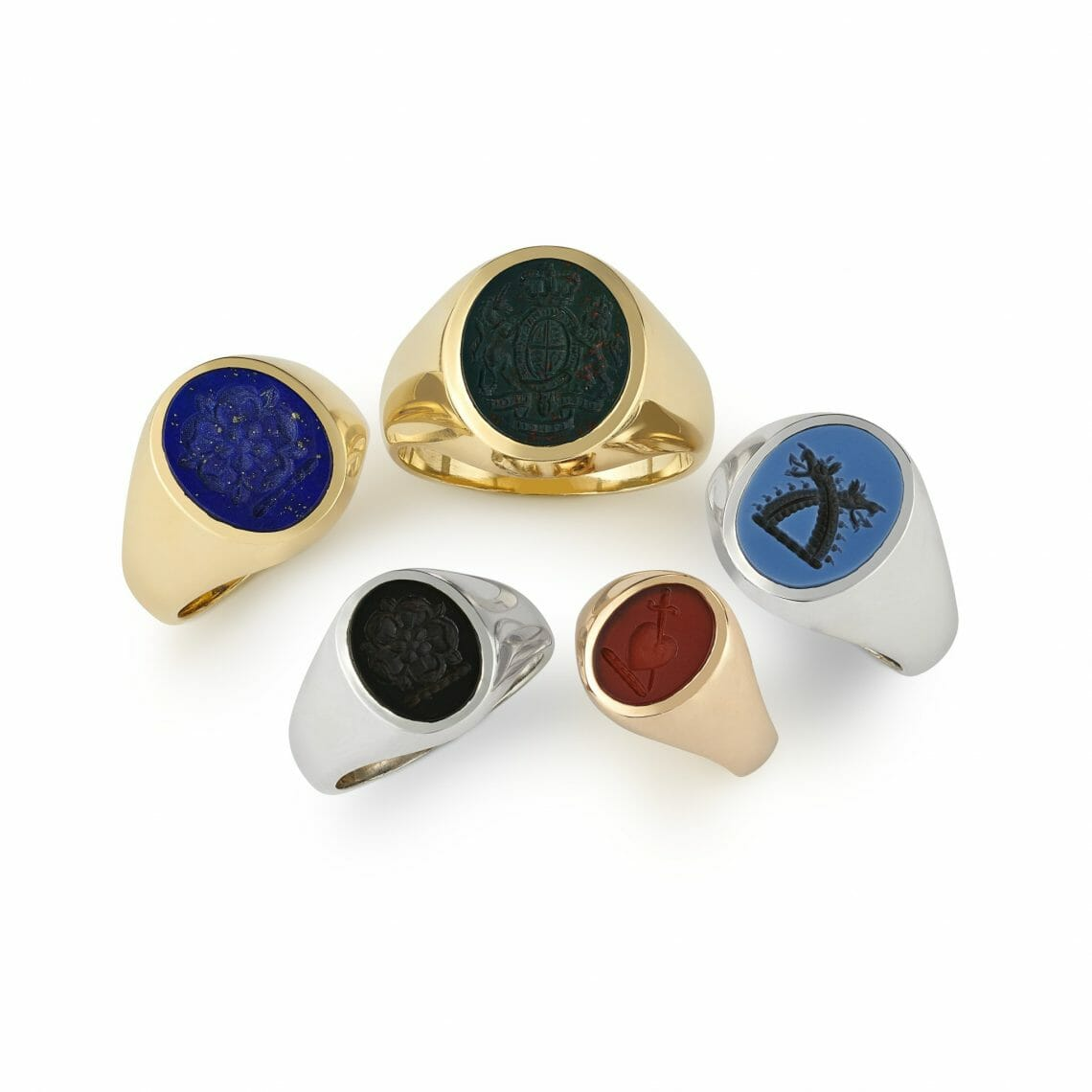 signet rings hancocks Modern Resurgence of the Traditional Signet Ring - EAT LOVE SAVOR International luxury lifestyle magazine, bookazines & luxury community