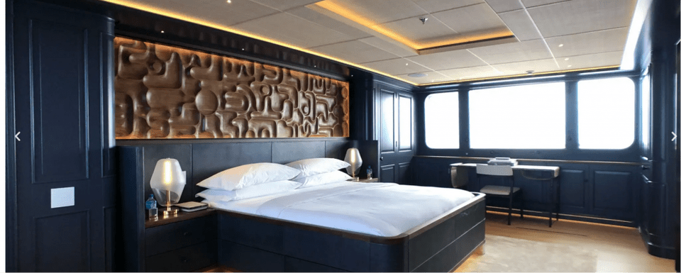 Broadwater yacht master cabin Escape to the Bahamas aboard the exquisite BROADWATER yacht - EAT LOVE SAVOR International luxury lifestyle magazine and bookazines