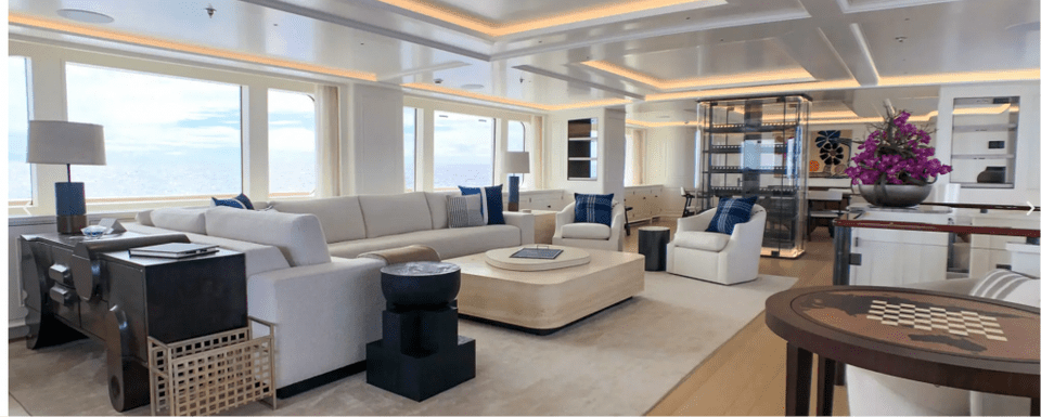 Broadwater yacht salon Escape to the Bahamas aboard the exquisite BROADWATER yacht - EAT LOVE SAVOR International Luxury Lifestyle Magazine