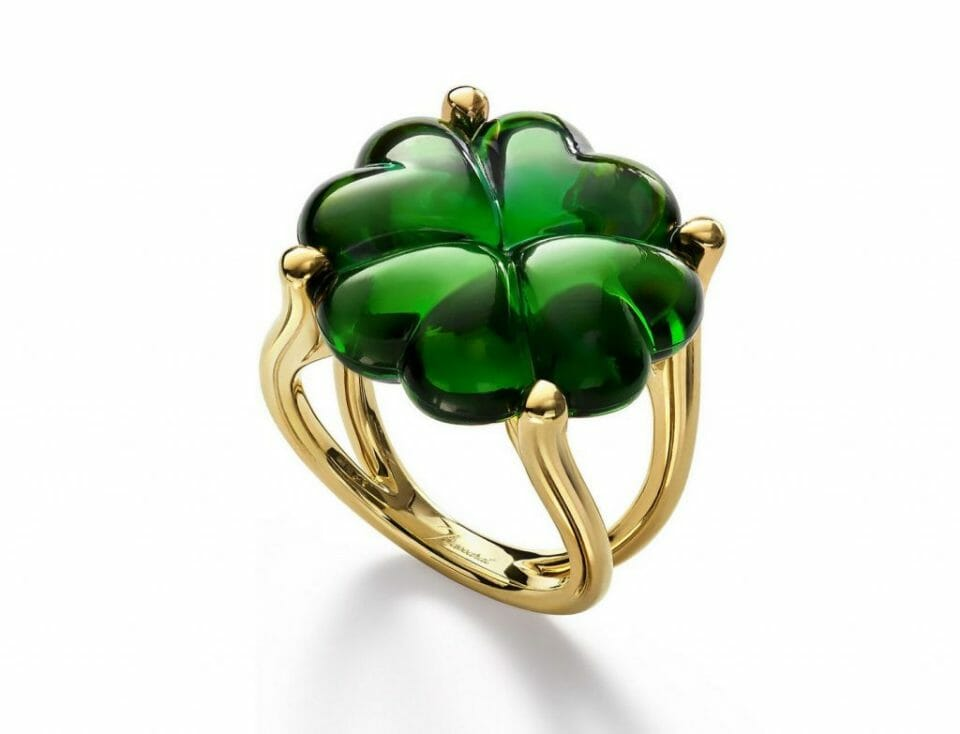 Baccarat Trefle ring Beautiful Baccarat Jewelry for Her - EAT LOVE SAVOR International luxury lifestyle magazine and bookazines