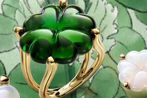baccarat trefle green ring ambience Beautiful Baccarat Jewelry for Her - EAT LOVE SAVOR International Luxury Lifestyle Magazine