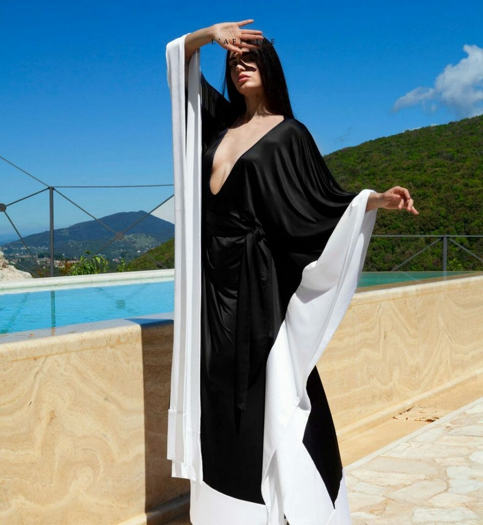 """chambressweden kimono Elegance, Versatility and Stylishly Comfortable Fashion for a New World, Wear """"Loungerie""""by ChambresSweden - EAT LOVE SAVOR International luxury lifestyle magazine and bookazines"""