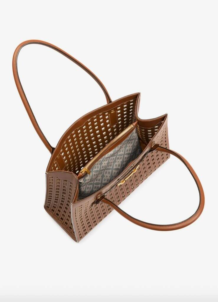 bally bag laser cut 1 Discover Classically Contemporary Bally of Switzerland Vedah Tote Bag - EAT LOVE SAVOR International Luxury Lifestyle Magazine