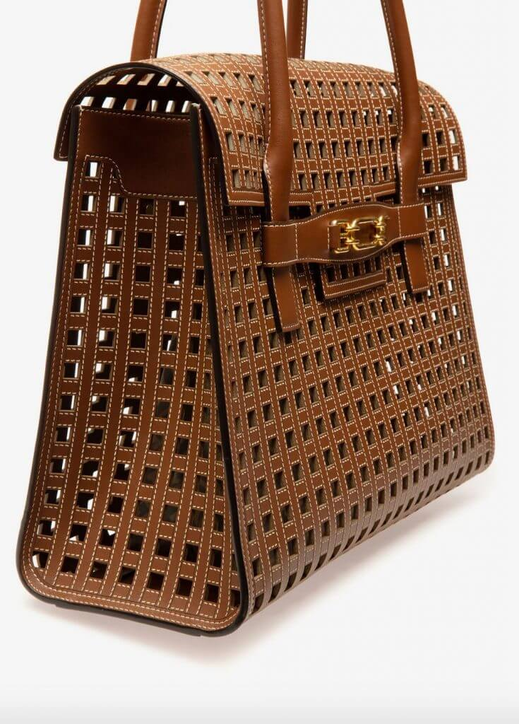 bally bag laser cut 2 Discover Classically Contemporary Bally of Switzerland Vedah Tote Bag - EAT LOVE SAVOR International Luxury Lifestyle Magazine