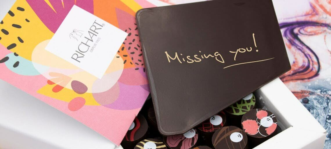 richart chocolates cadeaux Missing You Celebrate special occasions with an edible message and refined chocolate gift - EAT LOVE SAVOR International Luxury Lifestyle Magazine