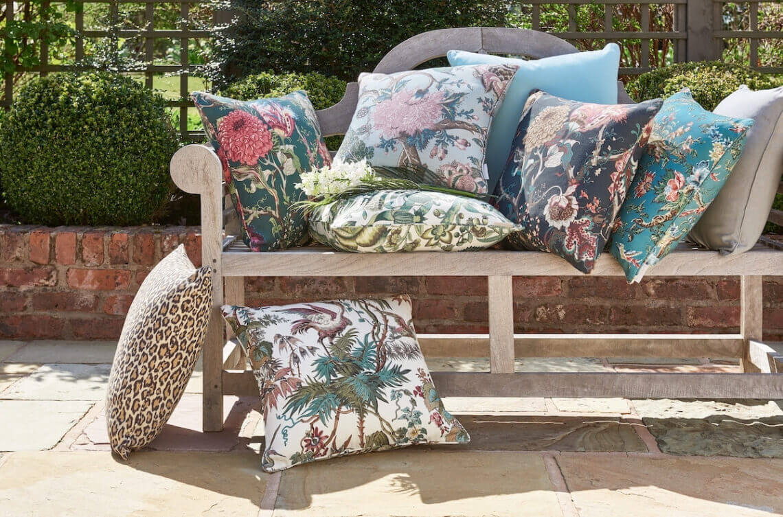 warner outdoor cushions 25 Discover Warner House Since 1870 Outdoor Cushions to Brighten your Spaces all Year Round - EAT LOVE SAVOR International Luxury Lifestyle Magazine