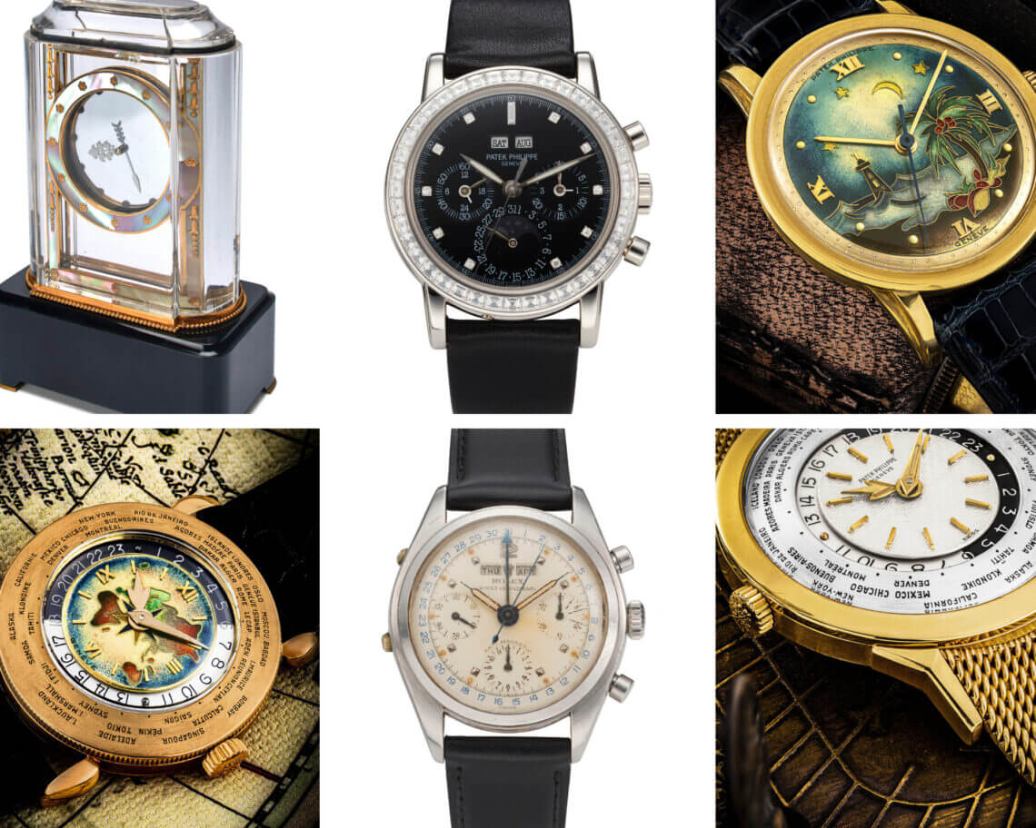 Christies auction watches photo collage for articles 2021 Christie's reaches #1 position in the watches auction market, totalling US$ 93.7million - EAT LOVE SAVOR International Luxury Lifestyle Magazine