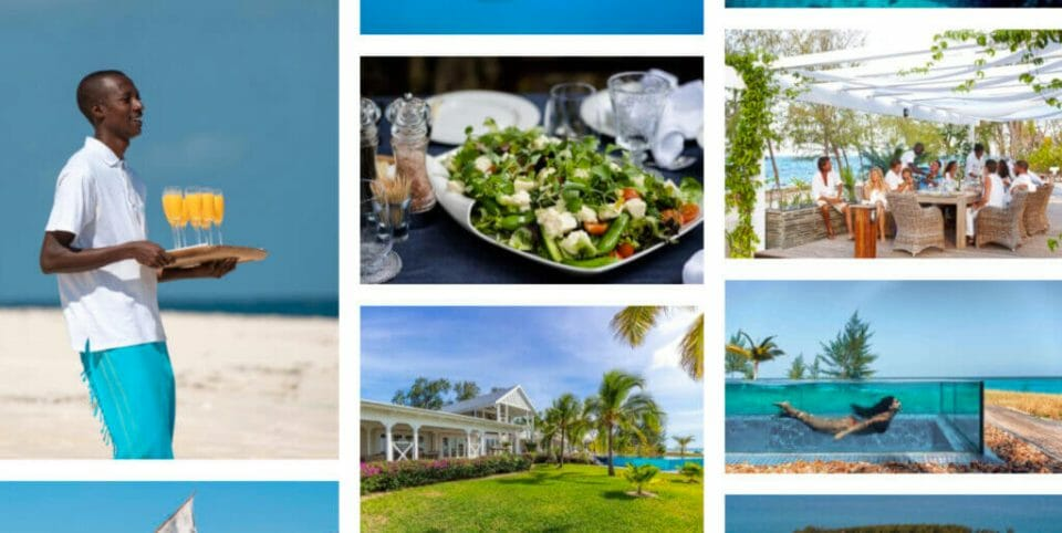thanda island collage The Ultimate Exclusive-Use Destinations for Bubble-To-Bubble Vacations - EAT LOVE SAVOR International Luxury Lifestyle Magazine