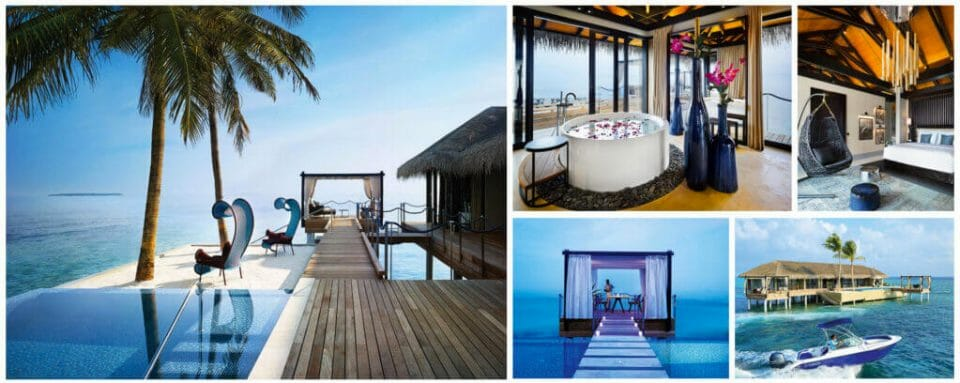 velaa private island collage The Ultimate Exclusive-Use Destinations for Bubble-To-Bubble Vacations - EAT LOVE SAVOR International Luxury Lifestyle Magazine