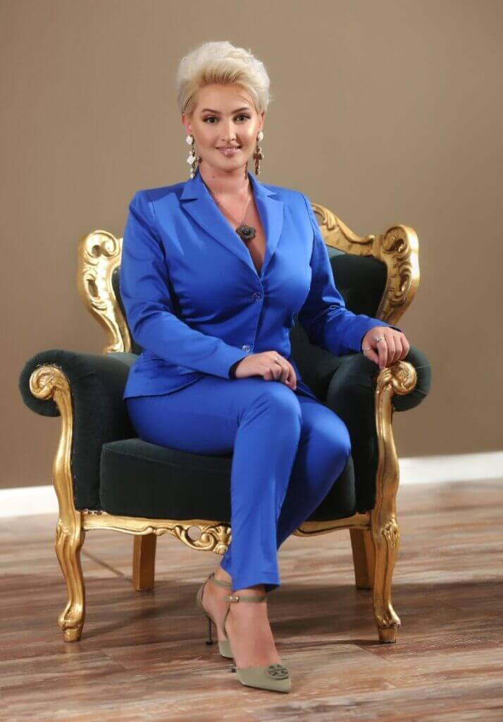 denisa photo chair A Moment with: H.E. Denisa Gokovi: Arts, Culture and International Business with Passionate Purpose - EAT LOVE SAVOR International Luxury Lifestyle Magazine