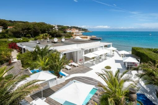 Cap villas Garoupe Beach sea view Iconic French Riviera hotspot-turned-villa, La Garoupe, a personal paradise with unique history is for sale for €10.5m - EAT LOVE SAVOR International Luxury Lifestyle Magazine