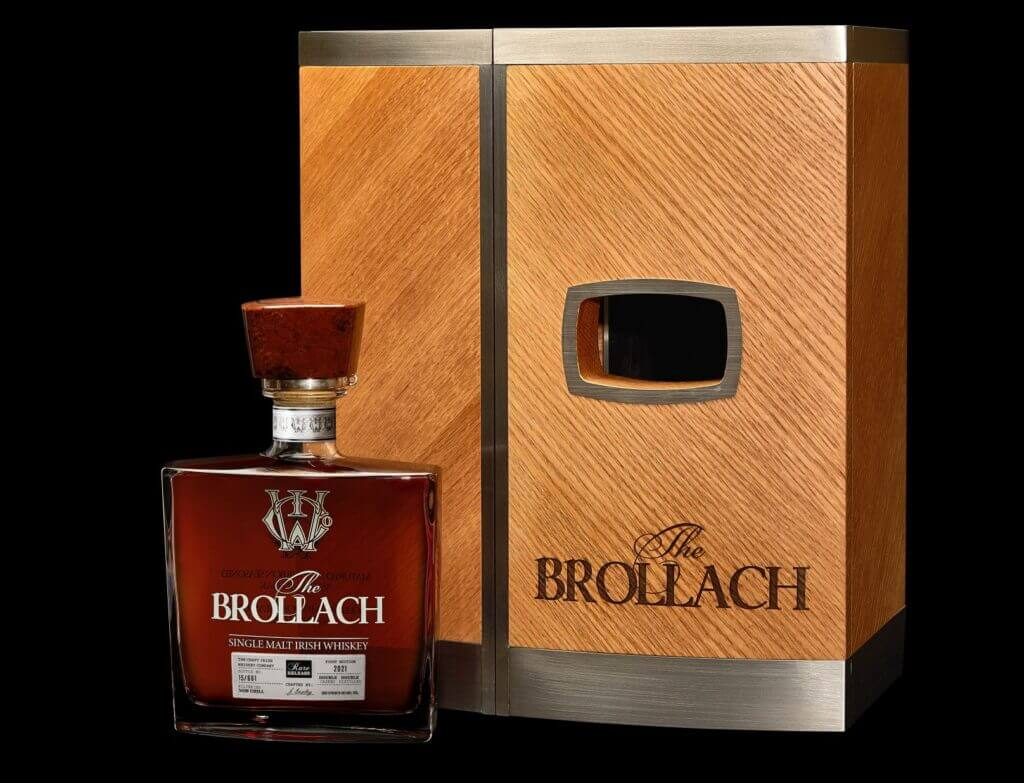 The Brollach Bottle and Box Discover Limited Edition 20-Year Brollach Single-Malt Irish Whisky - EAT LOVE SAVOR International Luxury Lifestyle Magazine