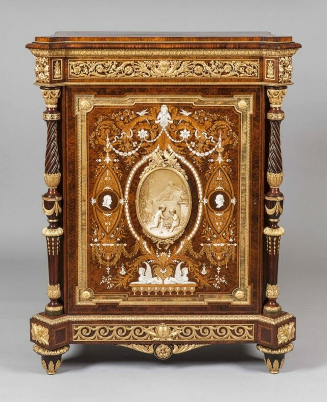 8637 Marblborough House Cabinet by Holland Sons straight on Discover Royal English Furniture Makers: Holland & Sons - EAT LOVE SAVOR International luxury lifestyle magazine, bookazines & luxury community