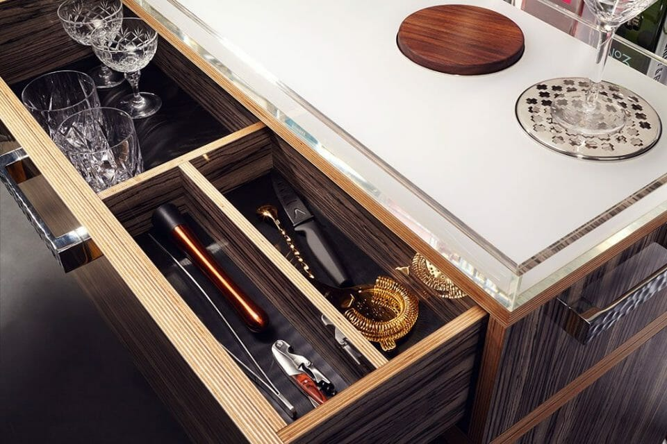 GIN TROLLEY DRAWER Discover the Gin Trolley by QUENCH - EAT LOVE SAVOR International Luxury Lifestyle Magazine