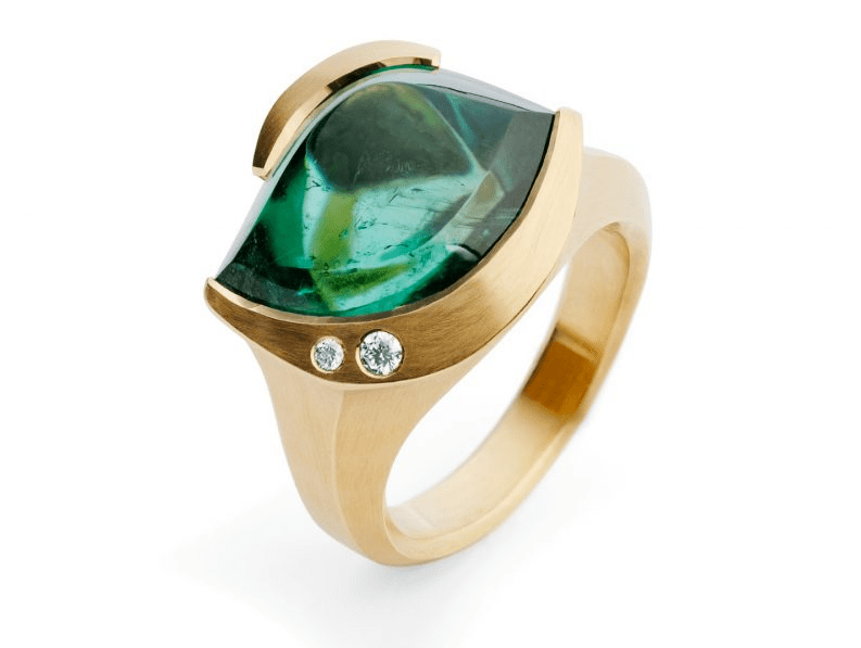 Mccaull carved rose gold diamond and tourmaline cocktail ring Discover: Sophisticated and Exceptional Cocktail Rings from Fine jewellers McCaul Goldsmiths - EAT LOVE SAVOR International luxury lifestyle magazine and bookazines