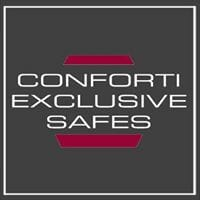 conforti exclusive safes logo The Masterful 100: Top 100 Luxury Experts and Brands List - EAT LOVE SAVOR International luxury lifestyle magazine, bookazines & luxury community