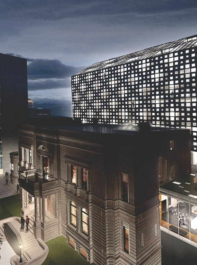 mount stepfan exterior rendering A Rich Heritage Reborn in a New Light: Le Mount Stephen A Jewel of a Luxury Hotel in Montreal - EAT LOVE SAVOR International luxury lifestyle magazine and bookazines
