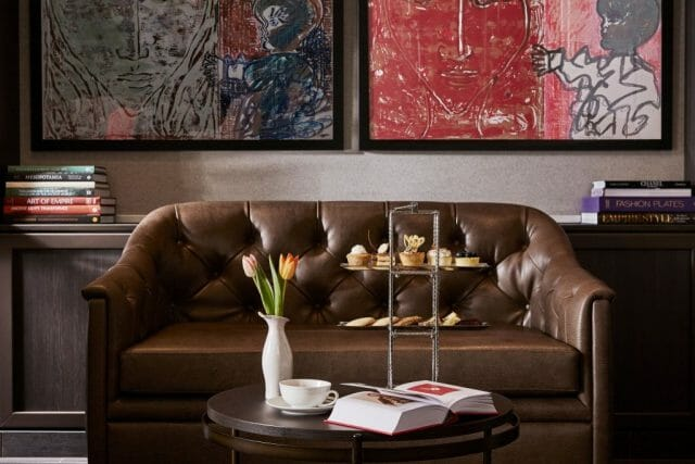 silver muse reading area and nibbles - eat love savor luxury lifestyle magazine